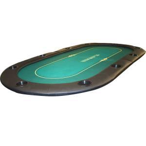 """Dessus de table de poker """"TOURNAMENT"""" - 200 cm x 100 cm - pliable - pour 10 joueurs"""
