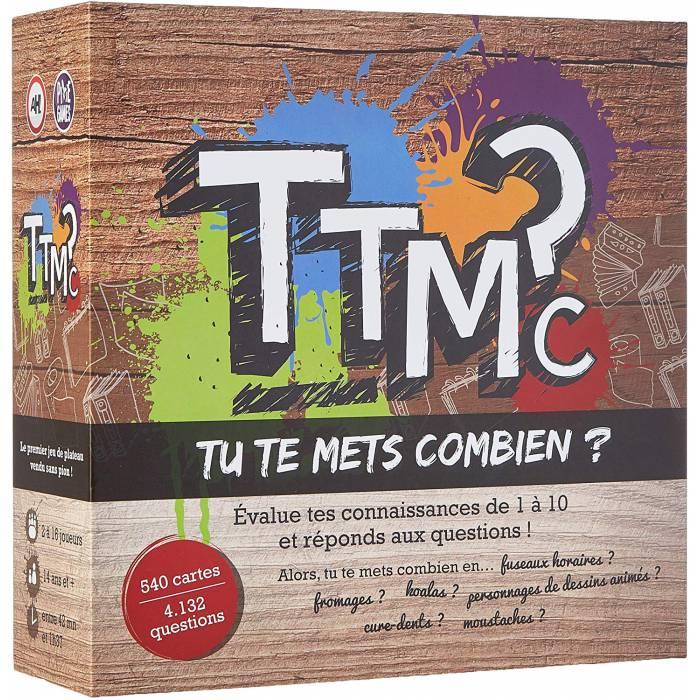 """""""TTMC - TU TE METS COMBIEN ? """" - jeu d'ambiance - jeu de 540 cartes - culture générale"""