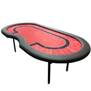 """Table de poker de tournoi """"RED"""" – emplacement dealer – 10 joueurs"""