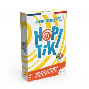 """DUCALE - Le Jeu Français : """"HOPTIK!"""" by Color Addict- jeu de 110 cartes- avec un buzzer."""