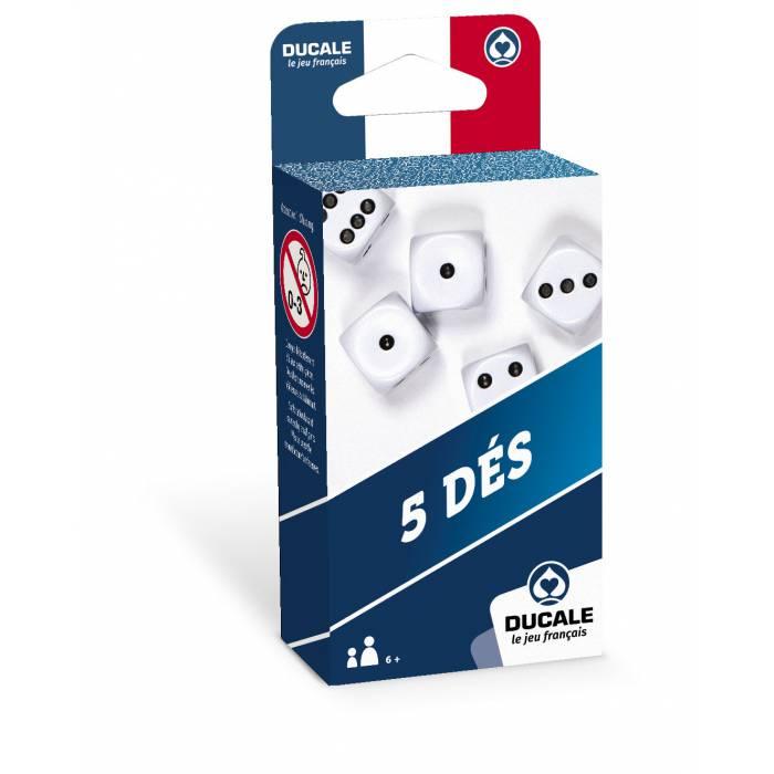 """DUCALE Le Jeu Français : """"5 DÉS - 18mm"""""""