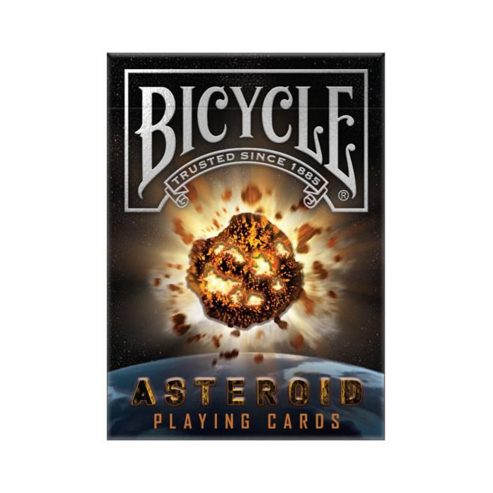 "Bicycle ""ASTEROÏDE""- jeu de 56 cartes cartonnées plastifiées – format poker – 2 index standards"
