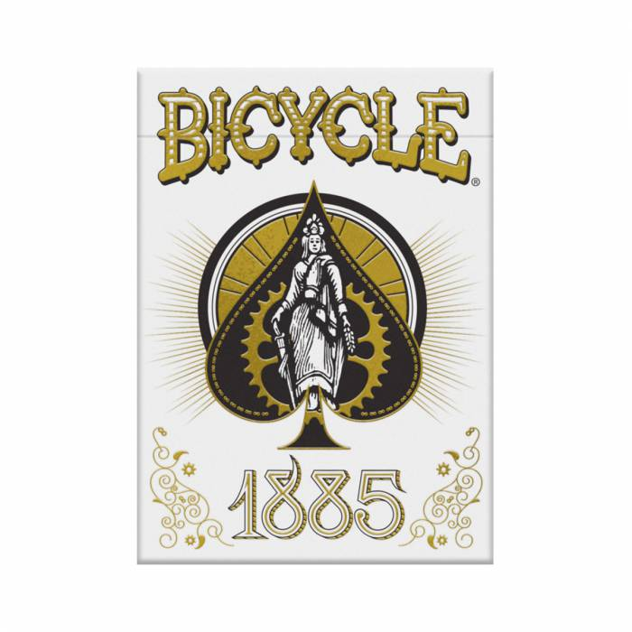 "A FINALISER Bicycle ""1885""- jeu de 56 cartes cartonnées plastifiées – format poker – 2 index standards"