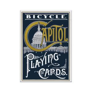 "Bicycle ""CAPITOL""- jeu de 56 cartes cartonnées plastifiées – format poker – 2 index standards"