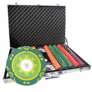 """Mallette de 1000 jetons de poker """"SUNSHINE"""" - version TOURNOI - en clay composite 14 g - avec accessoires"""