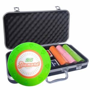 """Mallette Premium de 300 jetons de poker """"DIAMOND"""" - version TOURNOI - en clay composite 14 g - avec accessoires"""