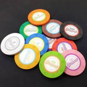 """Bird Cage de 1000 jetons de poker """"DIAMOND"""" - version TOURNOI - en clay composite 14 g - avec accessoires"""