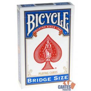 Bicycle Bridge Size - jeu de 54 cartes toilées plastifiées – format bridge – 2 index standards