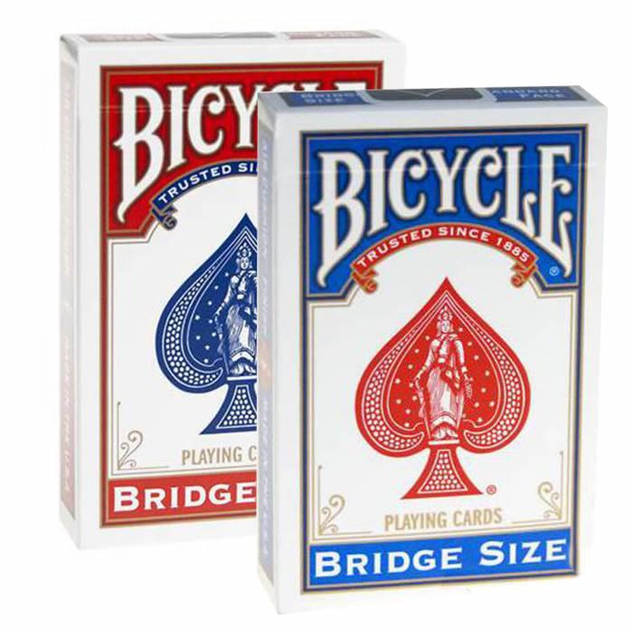 """Duo Pack Bicycle """"BRIDGE"""" - 2 jeux de 54 cartes toilées plastifiées – format bridge – 2 index standards"""