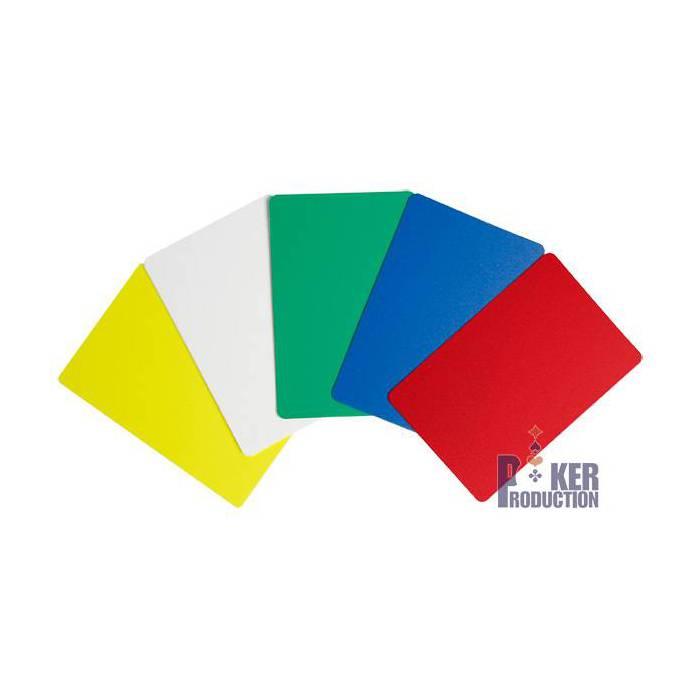 Cartes de coupe format bridge – 100% plastique - 5 couleurs