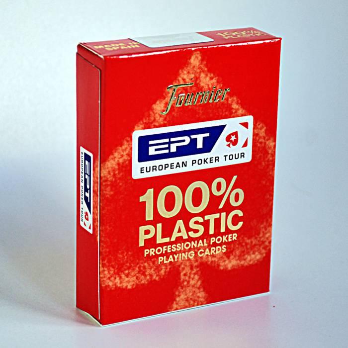 "Fournier ""EPT"" - Jeu de 55 cartes 100% plastique – format poker - 2 index Jumbo"