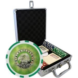 """Mallette de 100 jetons de poker """"LASER EAGLE """" - en ABS insert métallique 12 g - avec accessoires"""