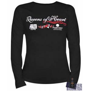 T-shirt femme WSOP Queens of heart Noir