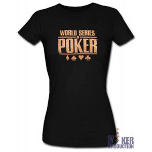T-shirt femme WSOP Strass Noir