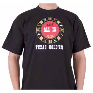 T-Shirt Noir Homme : ALL-IN