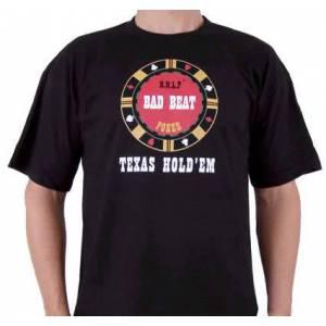 T-Shirt Noir Homme : BAD-BEAT