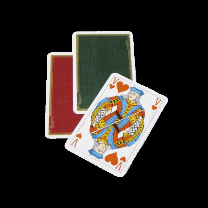 Lot de 10 jeux de cartes toilées