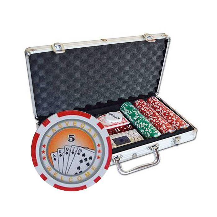 Mallette de 300 jetons de poker ROYAL FLUSH – en plastique ABS avec 11