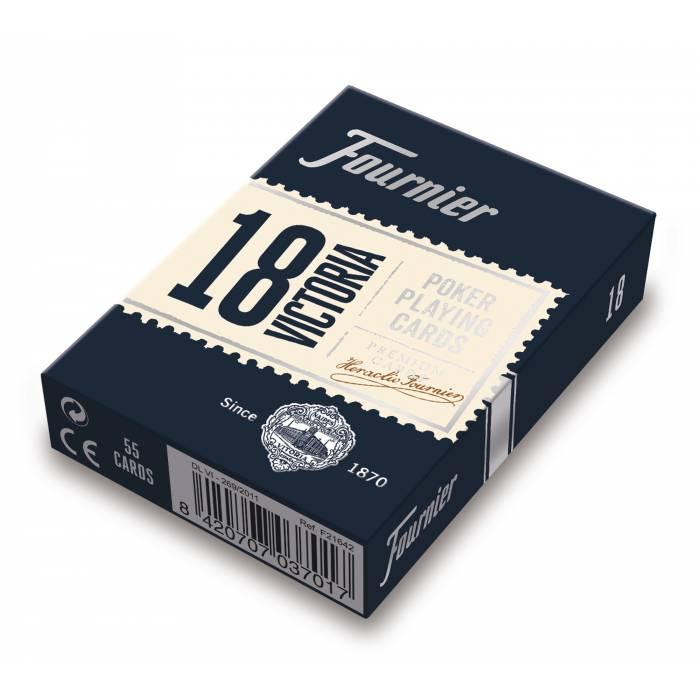 "Fournier ""18 VICTORIA"" - jeu de 54 cartes cartonnées -  2 index standard"