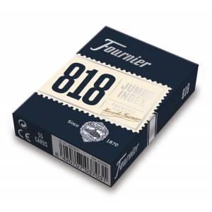 """FOURNIER """"818"""" - jeu de 54 cartes cartonnées - 2 index jumbo"""