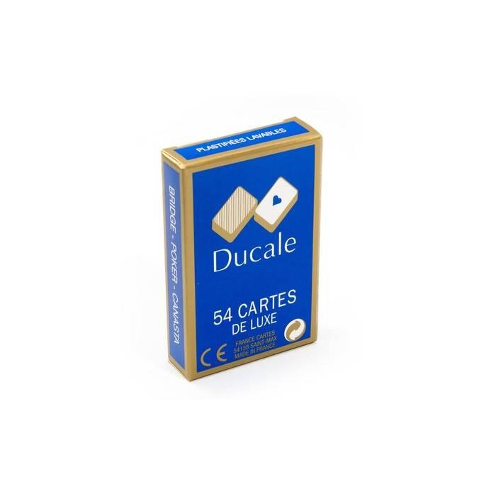 """DUCALE DE LUXE"" – Dos Odéon – jeu de 54 cartes cartonnées plastifiées"