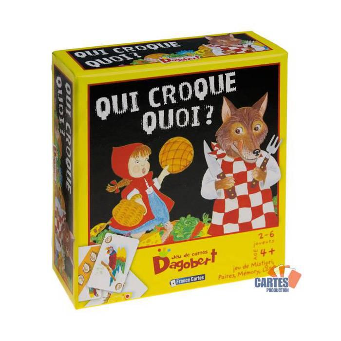 Dagobert Qui croque quoi? - Jeu de 36 cartes