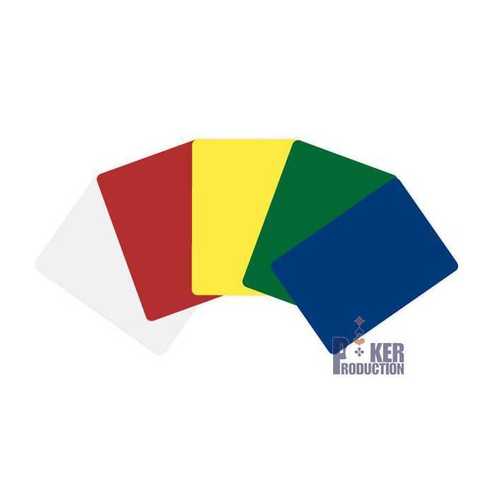 Cartes de coupe format poker – 100% plastique - 5 couleurs