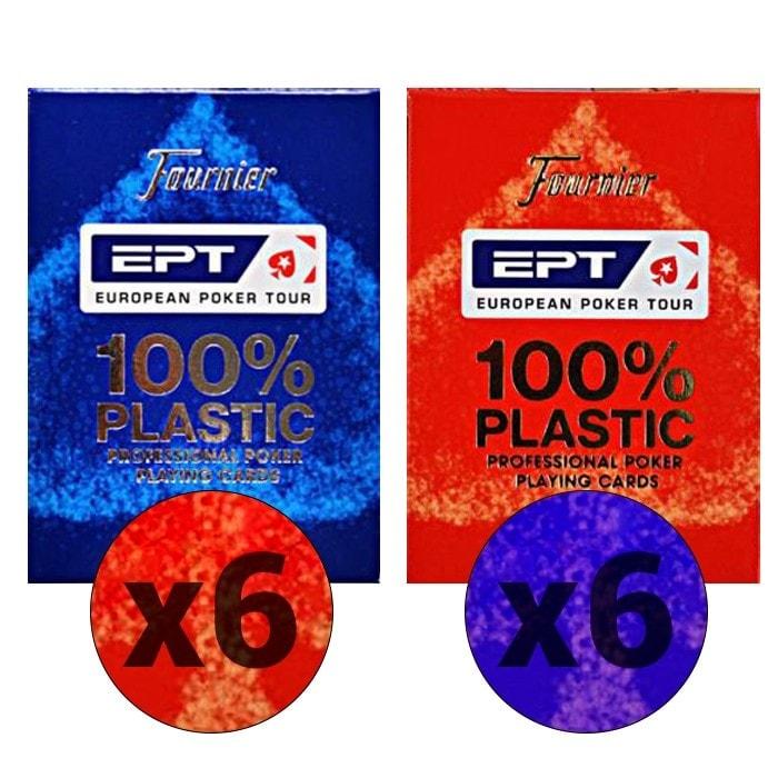 """Cartouche de 12 jeux Fournier """"EPT"""""""