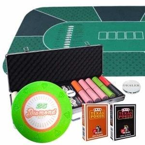 "Pack ""DIAMOND 500"" - 1 mallette de 500 jetons + 1 tapis"