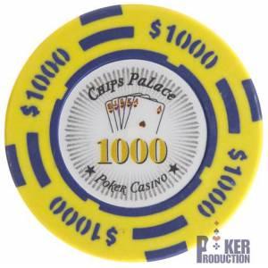 Jeton de poker CHIPS PALACE – en clay composite avec insert métal – 14g – en vente à l'unité