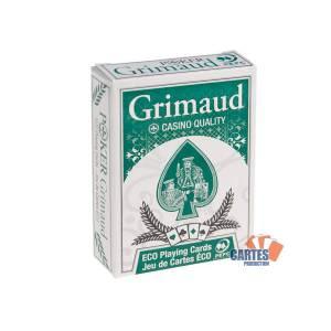 ÉCO Casino – Grimaud - jeu de 54 cartes cartonnées plastifiées – format bridge – 4 index standards – portraits américain