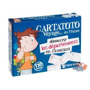 Cartatoto Départements – jeu de 110 cartes cartonnées plastifiées