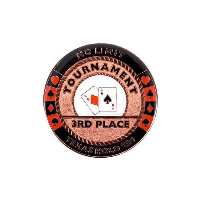 Card-Guard THIRD PLACE - en laiton – 2 faces différentes – 50mm de diamètre