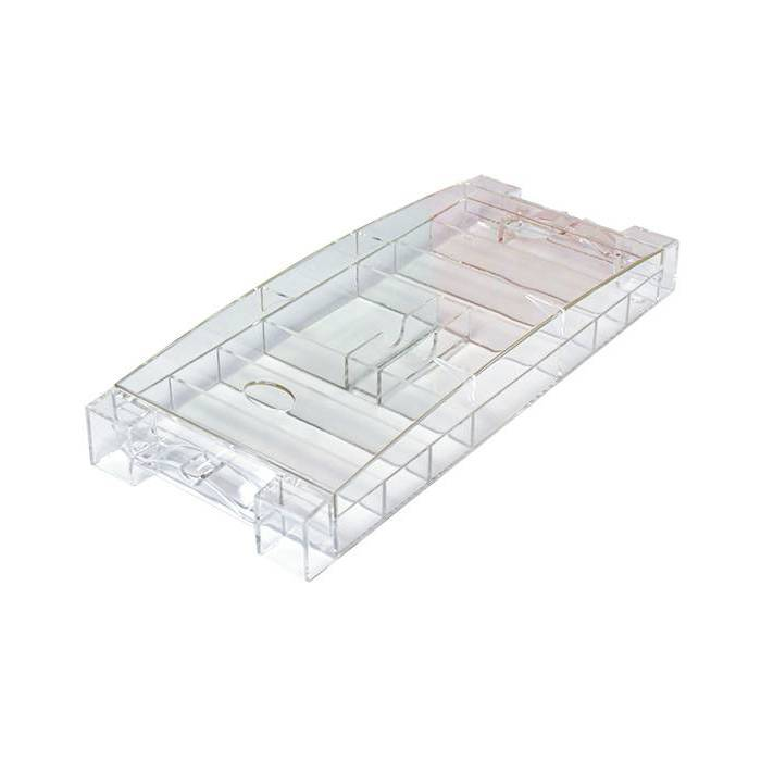 Rack de rangement pour 300 jetons de poker - transparent avec couvercle – 2 emplacements pour jeux de cartes