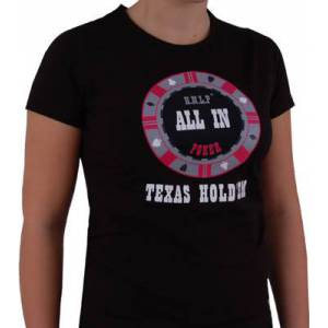 T-Shirt Noir Femme : ALL-IN - Taille L