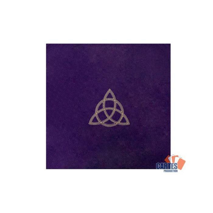 Tapis de tarot en velours WICCA – 80x80 cm – symbole brodé