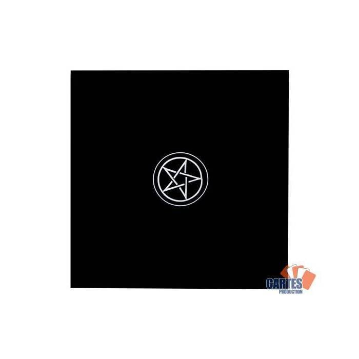 Tapis de tarot en velours PENTACLE – 80x80 cm – symbole brodé