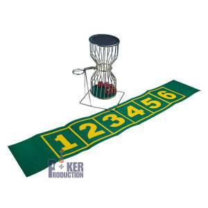 Chuck a Luck en métal 25 cm – avec tapis de jeu en feutrine verte
