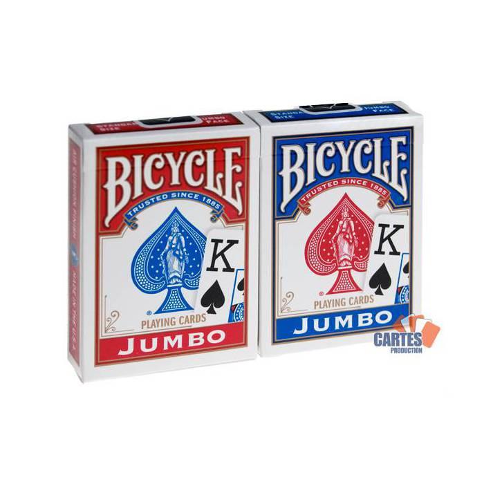 Duo Pack Rider Back – Bicycle – 2 jeux de 54 cartes toilées plastifiées – format poker – 2 index jumbo