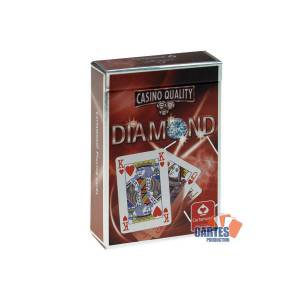 Bridge Diamond - Jeu de 54 cartes cartonnées plastifiées – format bridge – 4 index standards