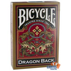 Dragon Back -Bicycle - jeu de 54 cartes cartonnées plastifiées – format poker – 2 index standards