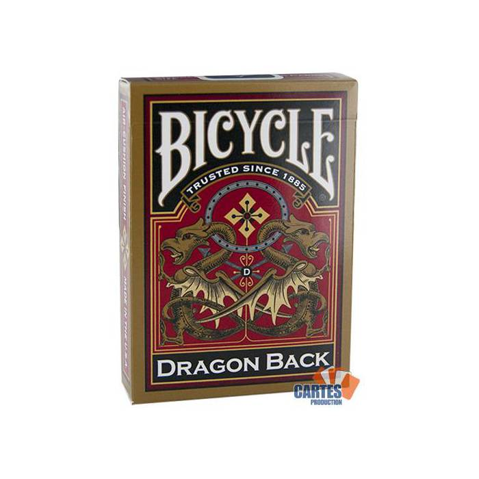 Dragon Back -Bicycle - jeu de 54 cartes cartonnées plastifiées – format poker – 2 index standards