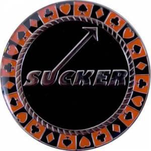 Card-Guard SUCKER - en laiton – 2 faces différentes – 50mm de diamètre