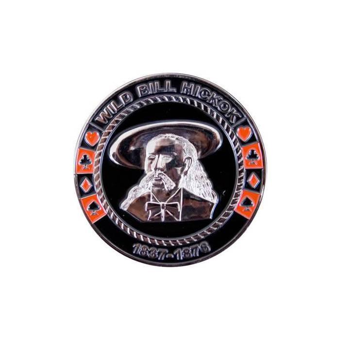 Card-Guard WILD BILL HICKOK - en laiton – 2 faces différentes – 50mm de diamètre