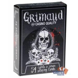 DeathGame – Grimaud - jeu de 54 cartes toilées plastifiées – format poker – 4 index standards