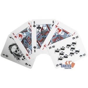 """Grimaud """"DEATHGAME"""" - jeu de 54 cartes toilées plastifiées – format poker – 4 index standards"""