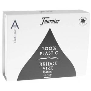 Duo pack Fournier Titanium Series - 2 Jeux de 54 cartes 100% plastique – format bridge - 4 index standards