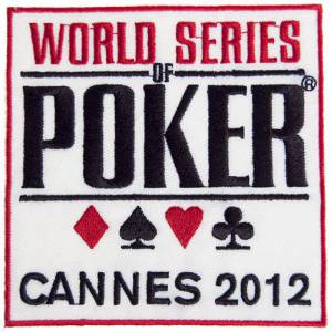 Patch brodé : WSOP Cannes 2012 – autocollant