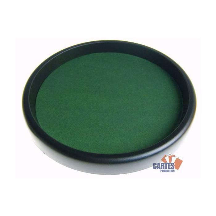 Piste de dés pour Yams et 421 - 33 cm - en plastique recouverte de feutrine verte