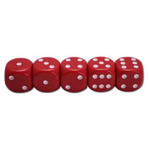 Set de 5 dés Rouges Entrée de Gamme